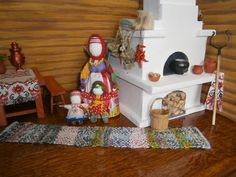 Small World, Dollhouse Miniatures, Nativity, Primitive, Arts And Crafts, Dolls, Baby, Gifts, Handmade