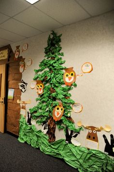 'Pine' tree in the hallway.  SO creative!