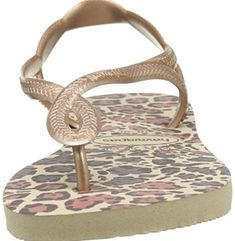 Havaianas Slim Luna Animals Sand GreyRoseGold Flip Flop 3536 -- Find out more about the great product at the image link.