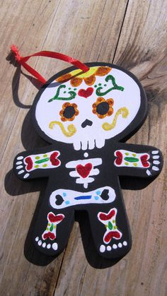 ornament dia de los muertos