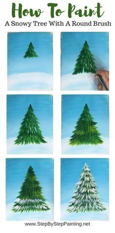Christmas Tree Painting, Christmas Canvas, Christmas Art, Christmas Decorations, Simple Christmas, How To Draw Christmas Tree, Painted Christmas Tree, Outdoor Christmas, Christmas Wreaths