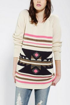 Staring At Stars Western Intarsia Tunic Sweater | Urban Outfitters