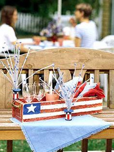 4th of July Planter - how to