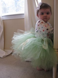 Baby Dress Up - Easy No Sew Tutu! - No Time For Flash Cards