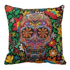 Dia de Los Muertos Travesseiro - pillows decorative
