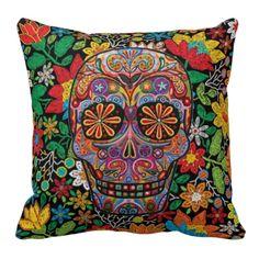 Dia de Los Muertos Travesseiro - pillows decorative