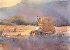 Direk Kingnok     After the harvest 2. 34 x 48 cm.