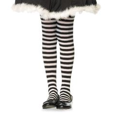 These girls striped black and white tights are perfect with our wicked witch costume or munchkin costume. The striped tights are fun for kids. Striped Stockings, Striped Tights, Fishnet Stockings, Black And White Tights, Black White Stripes, Black N Yellow, Color Black, Costumes For Teens, Girl Costumes