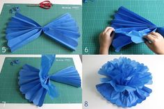 Como fazer pompons de papel de seda - dcoracao.com - blog de decoração