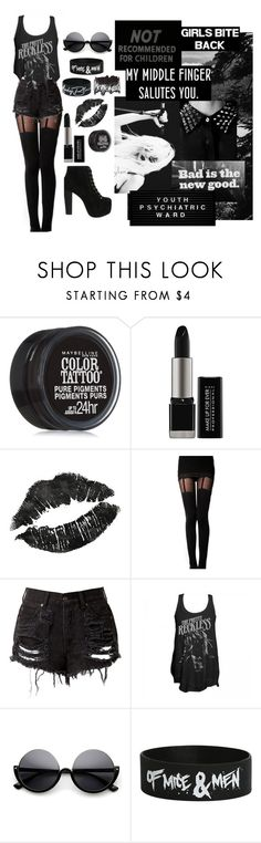 """""""Won't Be Pretty, Won't Be Sweet"""" by katielynnr ❤ liked on Polyvore featuring Jeffrey Campbell, Maybelline, MAKE UP FOR EVER and Topanga"""
