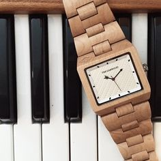 """The """"Angeleno"""" Watch by The Garwood made from 100% Wood"""