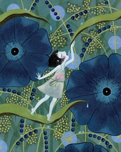illustration from Poucette (Thumbelina) by Charlotte Gastaut