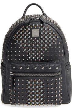 aa596bd2b0  Small Stark Special  Swarovski Crystal Embellished Leather Backpack Mcm  Backpack