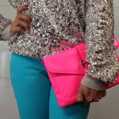 Nice pink envelope bag