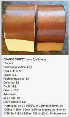 Orange Street, cone 5. Fb Clara Giorello Ceramic Glaze Recipes, Clay Food, Ceramic Artists, Ceramic Pottery, Painted Pottery, Enamels, Blue Prints, Recipes, Ceramic Engineering