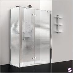 Eck-Duschkabine Swen - SEBASTIAN e.K. – Gefaltet. –  Vollständig lässt sich die Tür von Swen auf eine Seite schieben. Das ermöglicht eine absolut barrierefreie Benutzung. Die Tür ist mit einem praktischen Hebe-Senk-Mechanismus ausgestattet. Dies soll verhindern, dass Wasser aus der Kabine austritt. Die Profile haben wir bewusst in der Oberfläche Silber hochglänzend gefertigt, damit die Reinigung und Pflege besonders leicht und hygienisch ist.