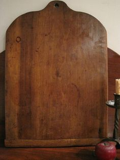 "Antique 1800s EARLY HUGE WOODEN TREEN BREAD or Pie BOARD - Bread Board Edge - ""GORGEOUS EARLY OUTSTANDING WARM MELLOW PATINA! SO DESIRABLE, HUGE AND BEAUTIFUL.    Ebay  sold  266.00"