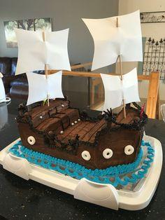 DIY Bucky Pirate Ship Cake Pirate ship cakes Pirate ships and Bucky