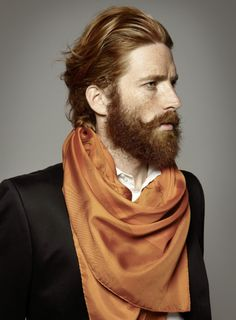 groomed mustache, embrace the ginger-blonde.