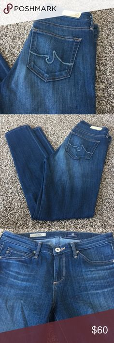 A.G MID-RISE CIGARETTE JEANS WITH GREAT STRETCH!!! NWOT AND SIMPLY GORG!! Super soft and super stretch!! These are The Prima by Adriano Goldschmied (AG). The Mid-Rise Cigarette Style! Size 25. Inseam 30.5. Ag Adriano Goldschmied Jeans Skinny