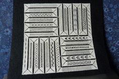 an idea for a sampler- Milanese Types Of Lace, Lacemaking, Lace Patterns, Bobbin Lace, Zig Zag, Tatting, Cross Stitch, Fancy, Projects