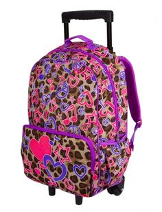 Girls Clothing | Roller Backpacks | Leopard Roller Backpack | Shop ...
