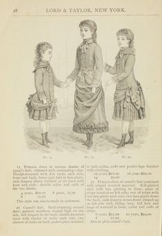 Catalogue : Spring and Summer : of silks, dress goods, cloths, millinery (etc.). 1882. Metropolitan Museum of Art (New York, N.Y.). Thomas J. Watson Library. Trade Catalogs. #spring #dresses #tradecatalog | Since it's officially Spring, it's time to start thinking about new clothes, 1882-style.