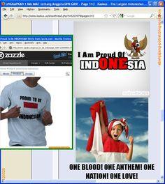 "Saya pernah heran lihat bemper mobil ditempeli stiker ""I am proud to be Indonesian"". Rupanya ada pula t-shirt-nya, atau website dengan slogan seperti ini. Kalau memang bangga dengan Indonesia, kenapa merasa lebih keren pakai bahasa orang lain?"