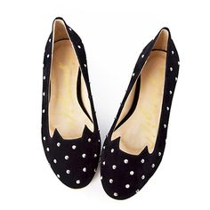 Cat Studded Metal Rivets Slip On Loafers Flat Shoes [grxjy5190440]