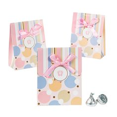 Tiny Toes Pink Favor Bags - OrientalTrading.com $4 per dozen