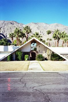Palm Springs at it's finest. Cute Pitched Roof!
