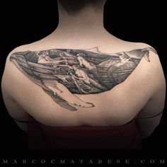 The whale and the mermaids erching tattoo Marco C. Matarese
