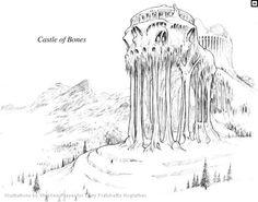 Hogfather Concept Art: castle of bones