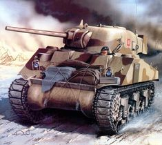 """Sherman of the """"Rats of the Desert"""", El Alamein 1942 ~ BFD Army Vehicles, Armored Vehicles, Tank Warfare, Tactical Truck, Military Armor, Military Tank, Tank Armor, Armoured Personnel Carrier, Sherman Tank"""
