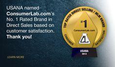 USANA se voit reconnaître par ConsumerLab.com's comme la marque la mieux cotée dans le secteur de la vente directe en fonction de la satisfaction à la clientèle / USANA named ConsumerLab.com's No. 1 Rated Brand in Directs Sales based on customer satisfaction