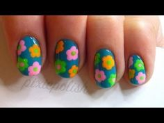 Easy Mod Floral Nail Art