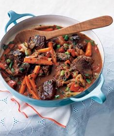 Quick Spring Lamb and Vegetable Stew | Get the recipe: http://www.realsimple.com/food-recipes/browse-all-recipes/quick-spring-lamb-stew-00000000012406/index.html