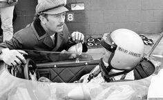 Colin Chapman with Mario Andretti