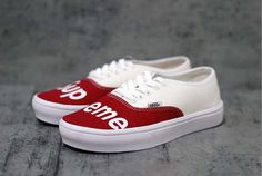 49306edad32d SUPREME x LV Slip-On Vans Custom by KixNY on Etsy
