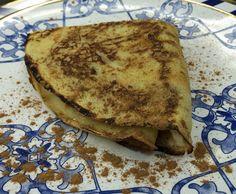 Crepe de banana com doce de leite. Receita feita pelo participante do Jogo de Panelas 15 do programa da Ana Maria Braga.  Sugestão do Mais Você  ♥