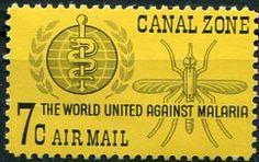 Francobolli . Lotta contro la malaria - Malaria on Stamps Zona del Canale 1962