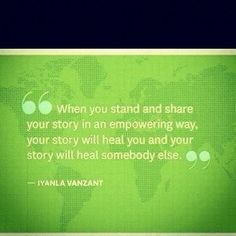 I will tell you my story... iyanla vanzant