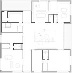 Ground floor plan of Kindergarten Susi-Weigel by Bernardo Bader Architects