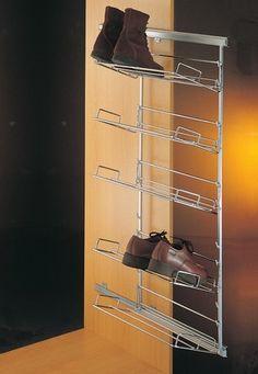 Zapatero alto de fijaci n lateral en una pared o en el - Range chaussures coulissant ...