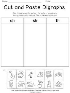 Blends and Digraphs {freebie} Teaching Phonics, Phonics Activities, Teaching Reading, Reading Resources, Guided Reading, Free Reading, Teaching Ideas, First Grade Phonics, First Grade Reading