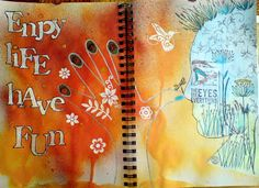 I just discovered artist Bastelmania's artful journal pages.  Here's one that all Delight Detectives agree with!