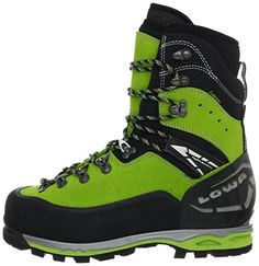 Amazon.com   Lowa Men's Weisshorn GTX Trekking Boot, Lime/Black, 10.5 M US   Hiking Boots Mens Hiking Boots, Mens Snow Boots, Men's Shoes, Shoe Boots, Shoes Sneakers, Halibut Fishing, Mountain Gear, Fashion Shoes, Mens Fashion