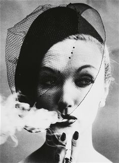 Smoke & Veil, Paris (for 'Vogue') by William Klein