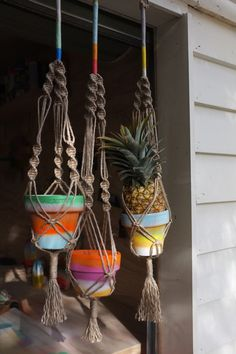 macrame | hanging pot plants