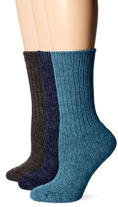 Wigwam Women's American Wool Casual Sock Color Assortment, Black/Berry Fruit/Grey Twist, Medium (Pack of 3) $14